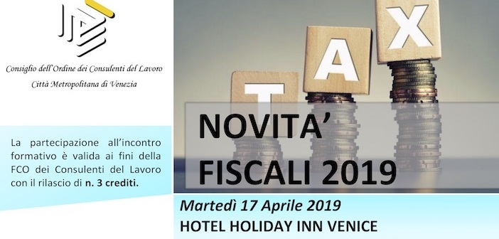 17.04.2019 Novità fiscali 2019