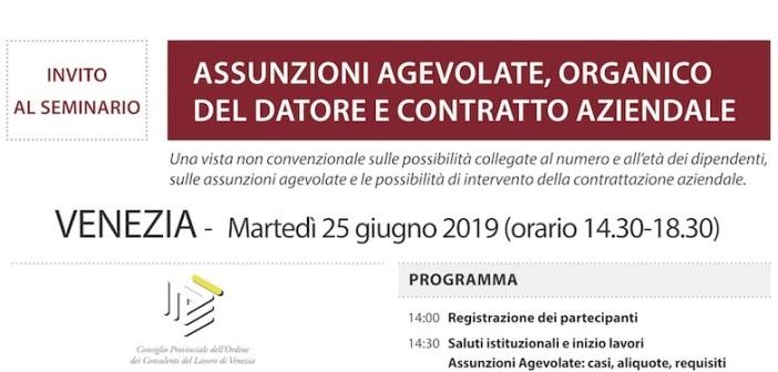 Convegno 25 giugno 2019 Assunzioni-agevolate-Venezia