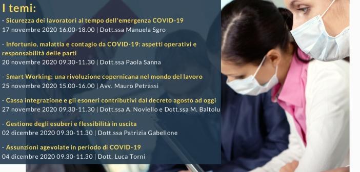 """Percorso formativo Novembre/Dicembre 2020 """"Impatto del COVID-19 sul mondo del lavoro"""" – coll. SEAC CEFOR"""