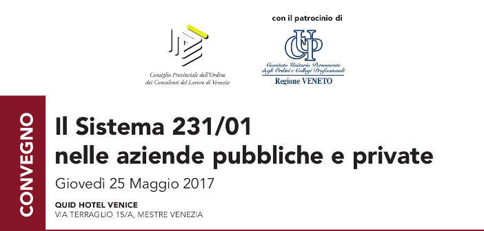 Il Sistema 231/01 nelle aziende pubbliche e private