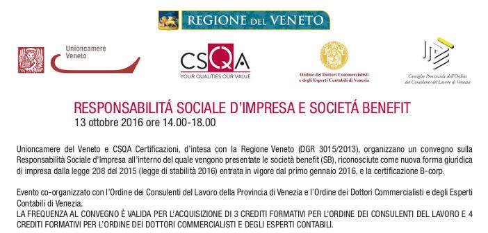 Responsabilità sociale d'impresa e società benefit